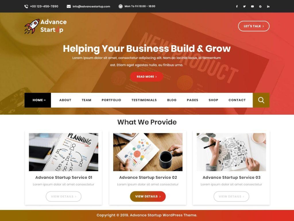 Advance Startup WordPress Theme