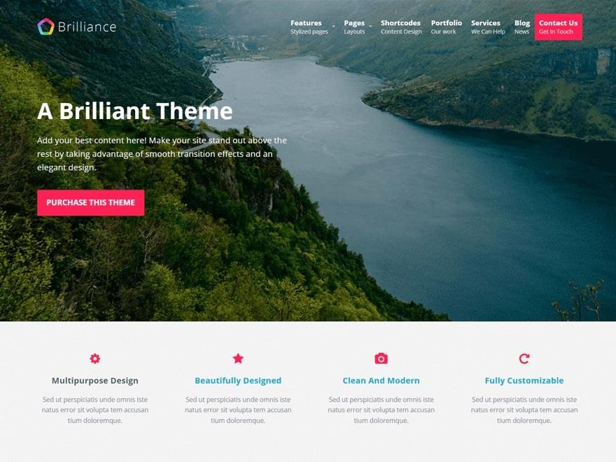 Brilliance WordPress Theme