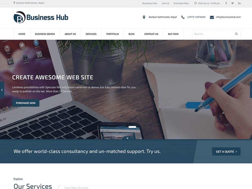 Business Hub WordPress Theme