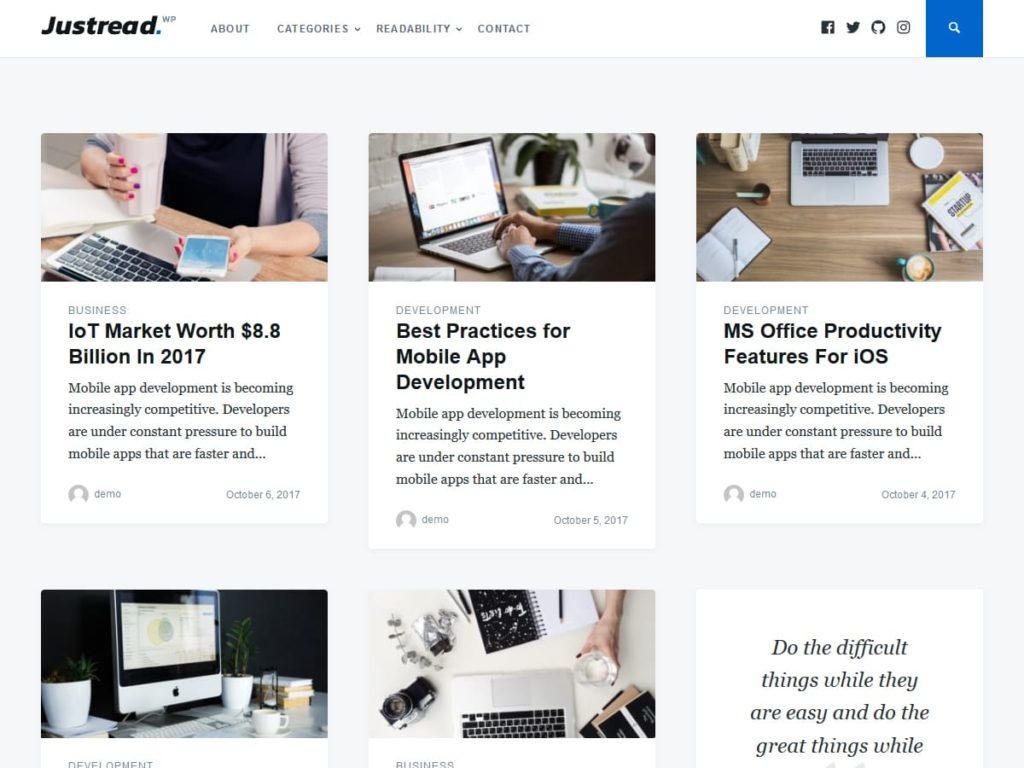 Justread WordPress Theme