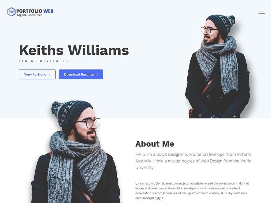 Portfolio Web WordPress Theme