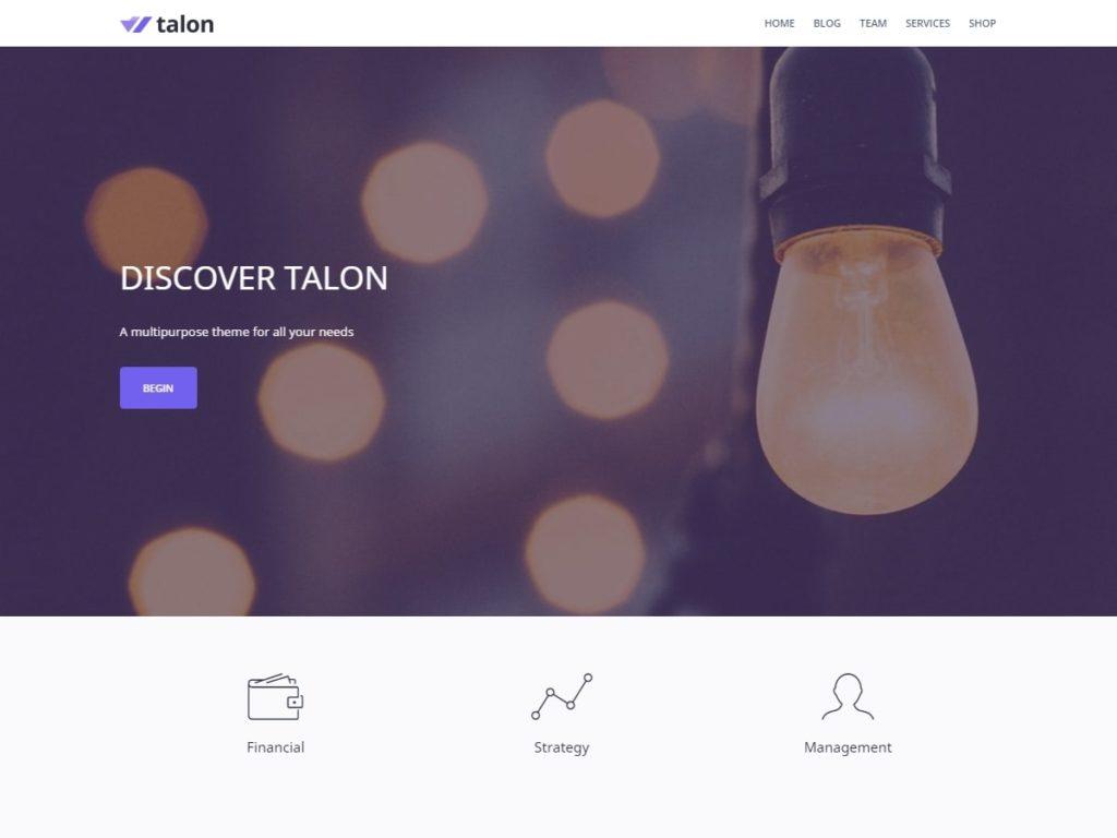 Talon WordPress Theme