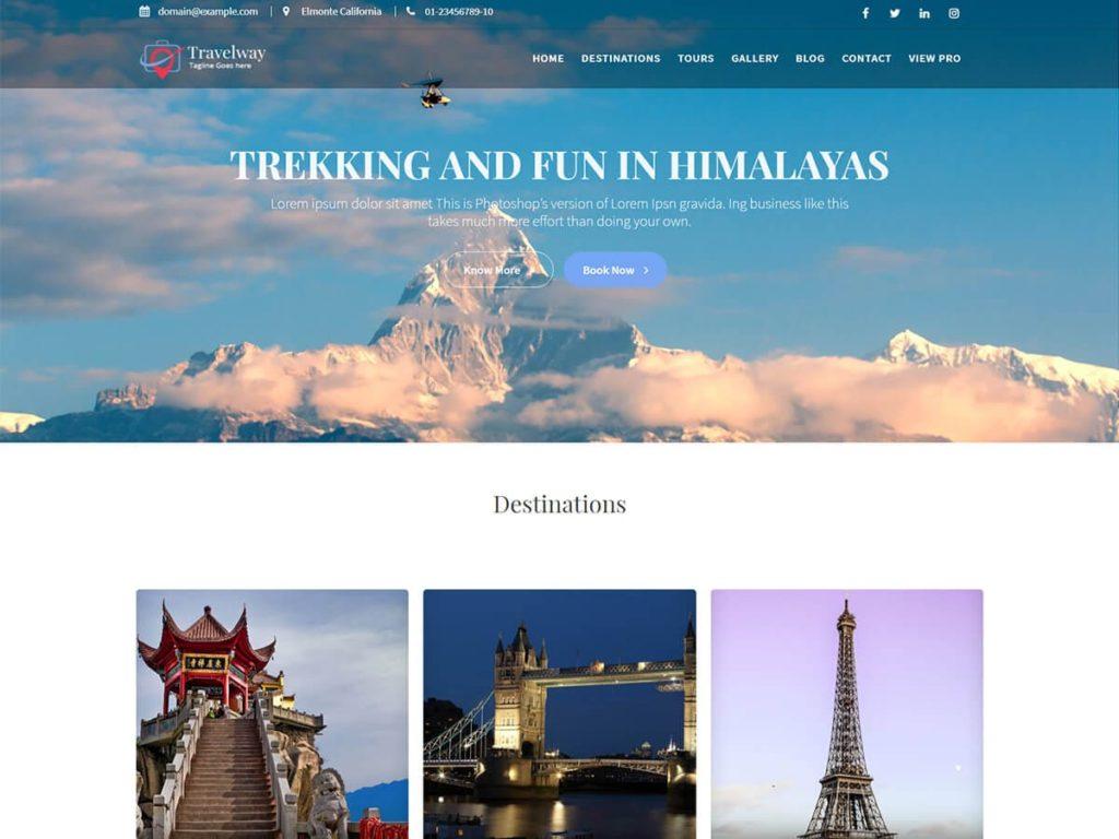 Travel Way WordPress Theme