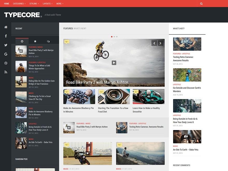 Typecore WordPress Theme